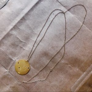 Brass Capricorn Zodiac pendant